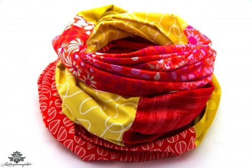 Tuch gelb rot