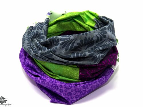 Tuch lila grün
