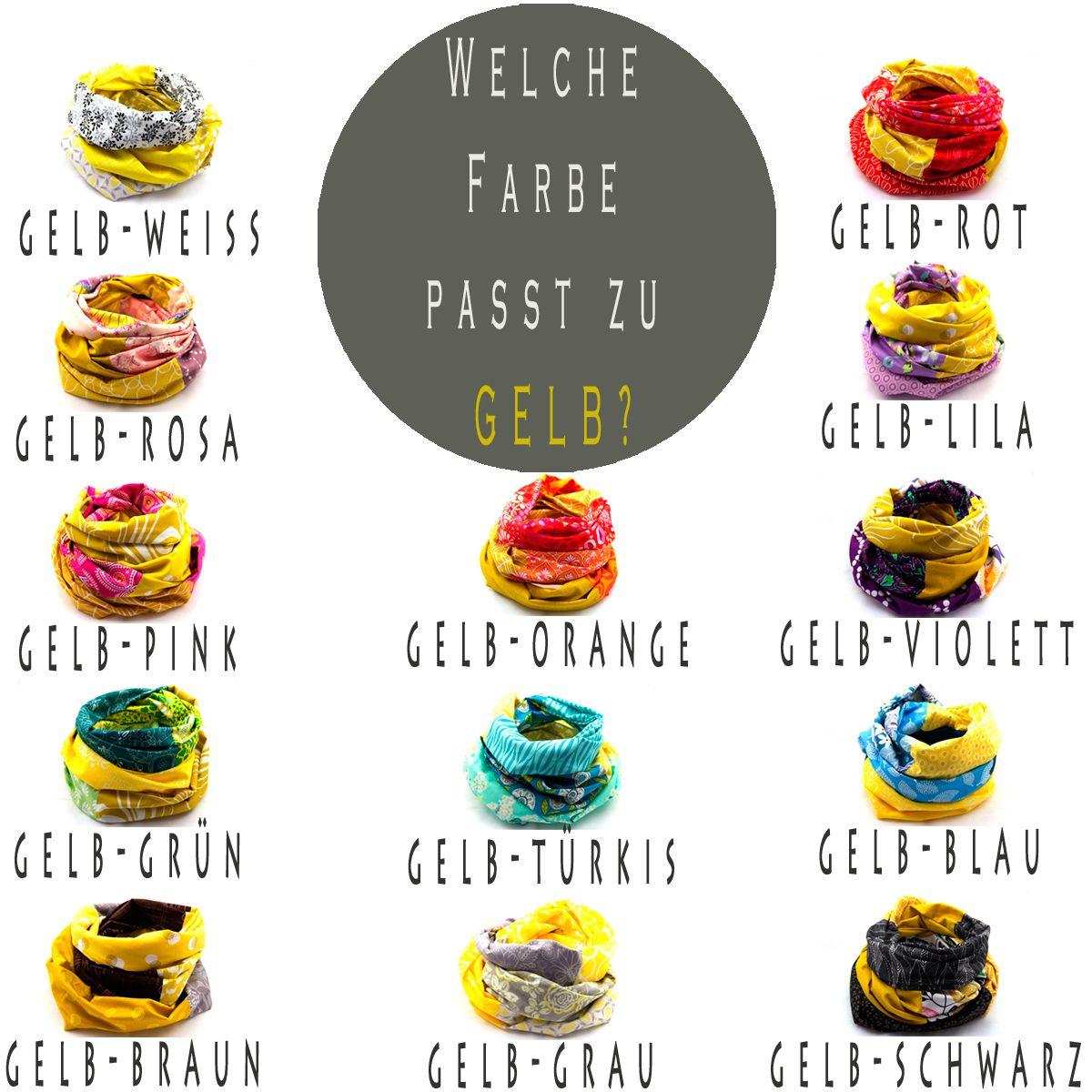 Welche Farbe Passt Zu Gelb Wohnideen Und: Welche Farbe Passt Zu Gelb * Loop Schals Und Tücher