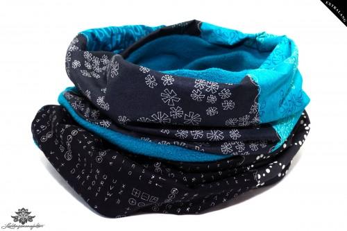 Winterloop blau türkis