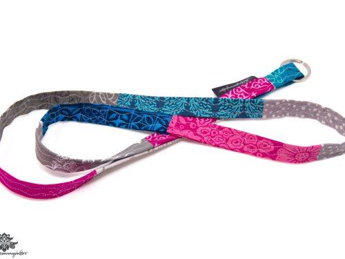 Buntes Schlüsselband pink blau