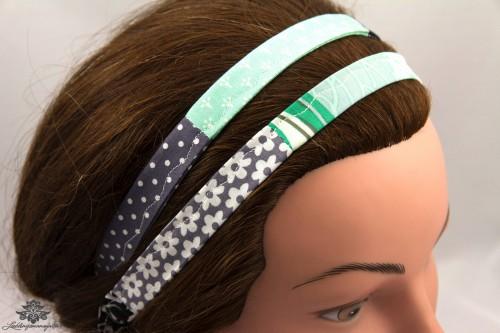 Haarband dunkelblau mint 2