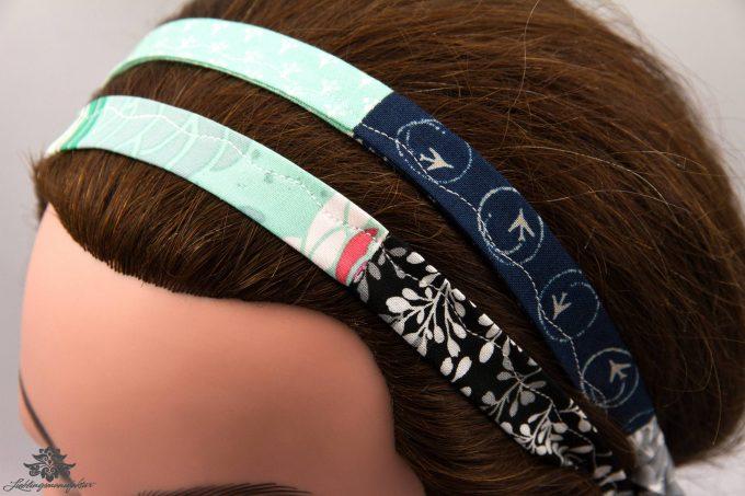 Haarband dunkelblau mint