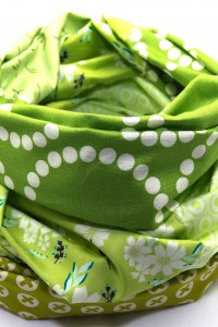 Loop Schal Unikat Lieblingsfarbe grün