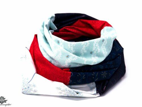 Loop Schal Unikat Lieblingsfarbe rot blau