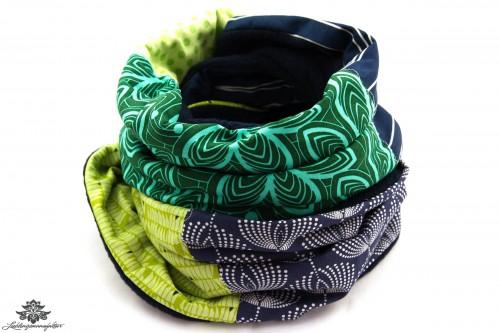 Schal blau grün