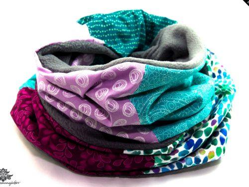 Schal blau pink