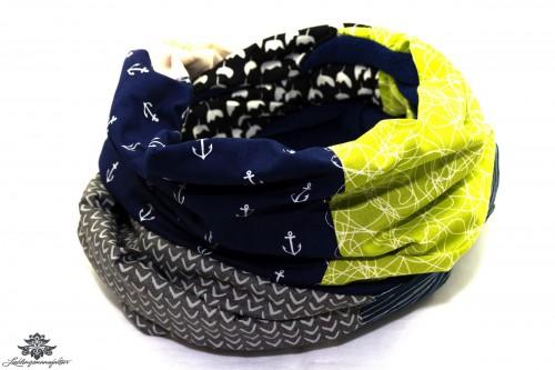 Schal blau schwarz