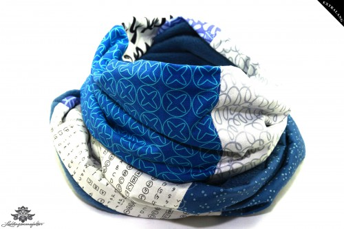 Schal blau weiss