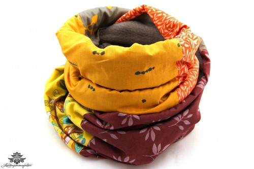 Schal braun gelb