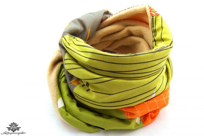 Schal bunt beige