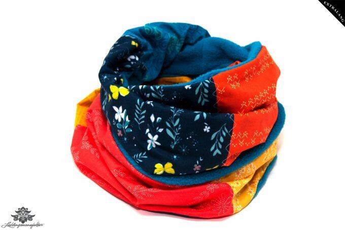 Schal bunt blau