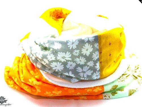 Schal bunt gelb