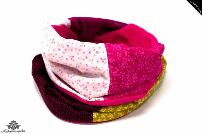 Schal bunt pink
