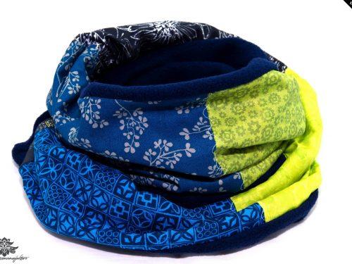 Schal dunkelblau grasgrün