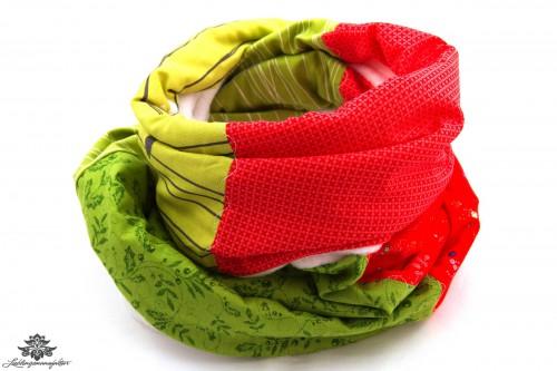Schal grün rot