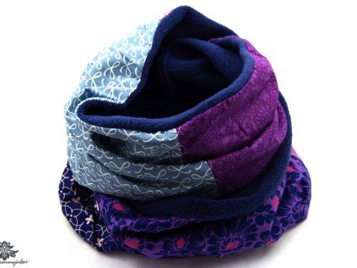 Schal lila blau