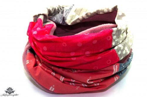 Schal pink grau