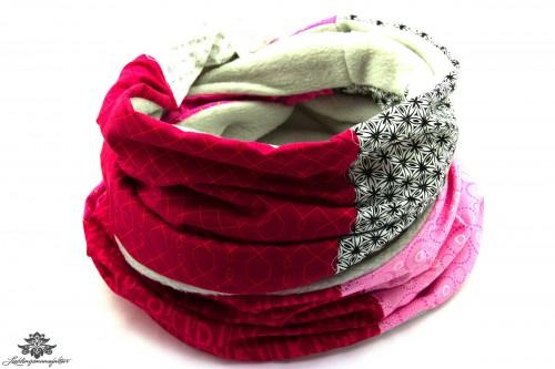 Schal rosa grau