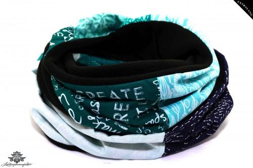 Schal schwarz blau