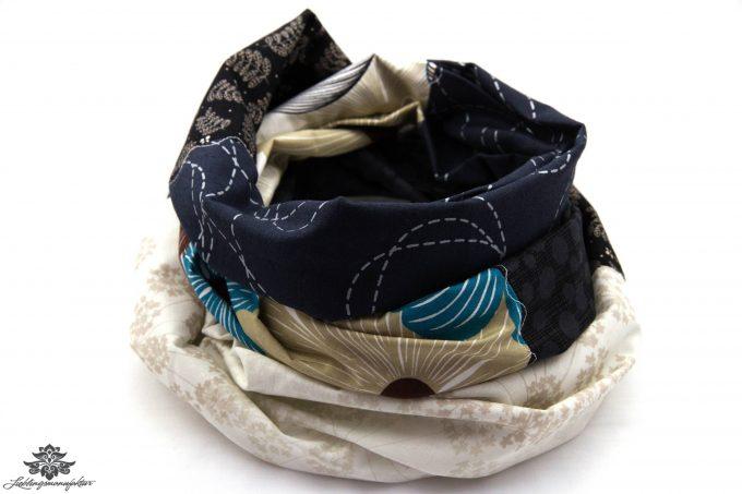 Schal schwarz weiß beige