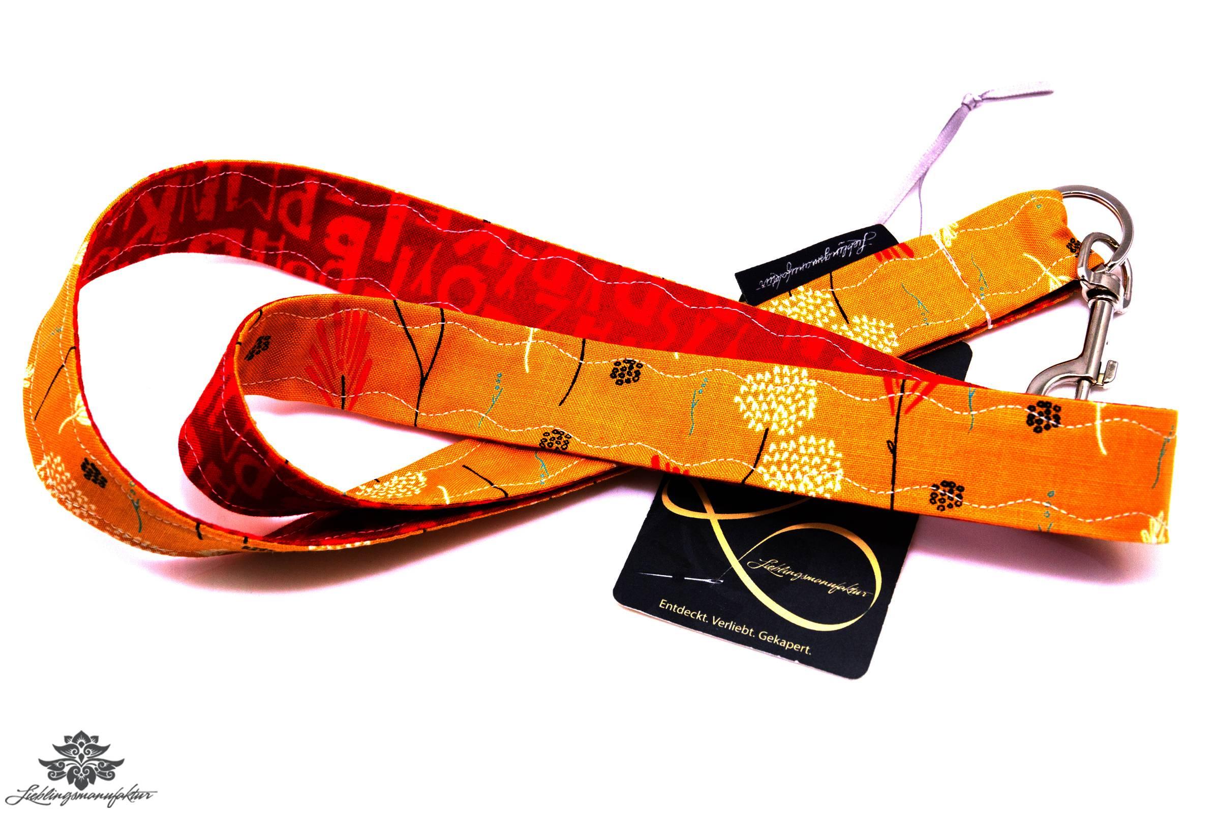 schl sselband karabiner orange lieblingsmanufaktur. Black Bedroom Furniture Sets. Home Design Ideas