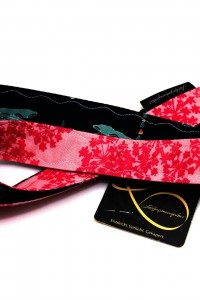 Schluesselband florales Muster rosa pink