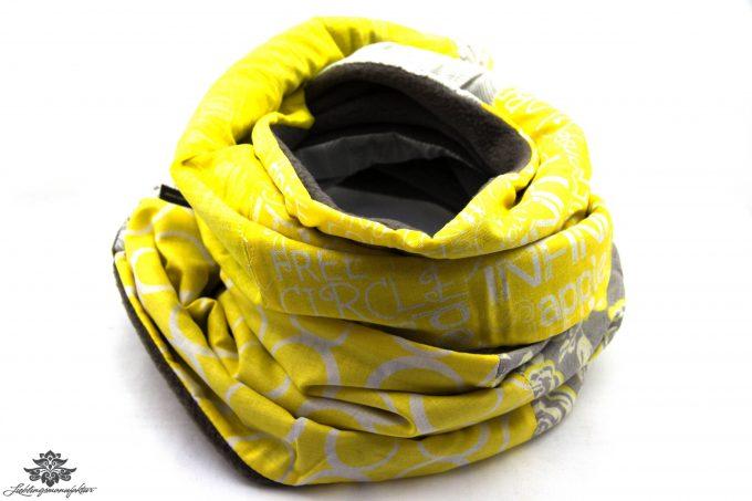 Gelb-grauer Schal