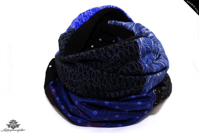 Loop schwarz blau lang