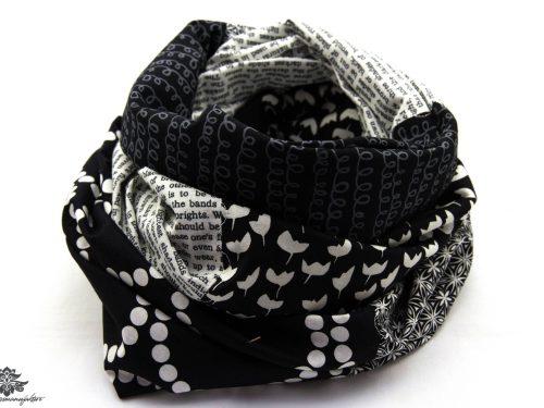 Loop schwarz weiss Baumwolle