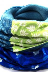 Schal Winter grün