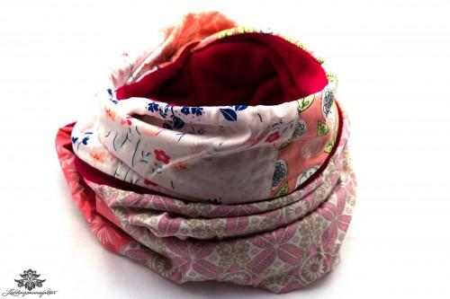 Schal Winter pink rosa weiss
