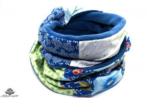 Schal blau bunt