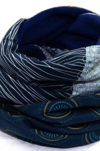 Schal blau dunkelblau marine
