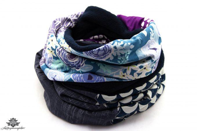 Schal blau lila