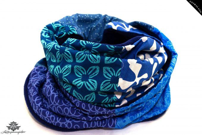 Schal blau türkis Fleece