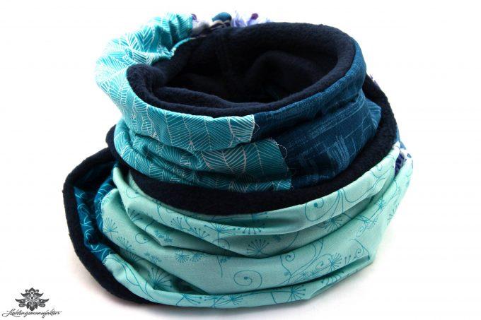 Schal dunkelblau türkis