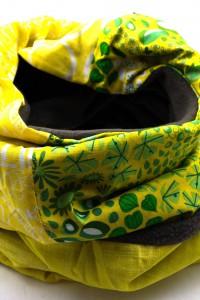 Schal gelb grau