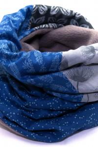 Schal grau blau