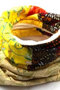 Schal orange braun gelb