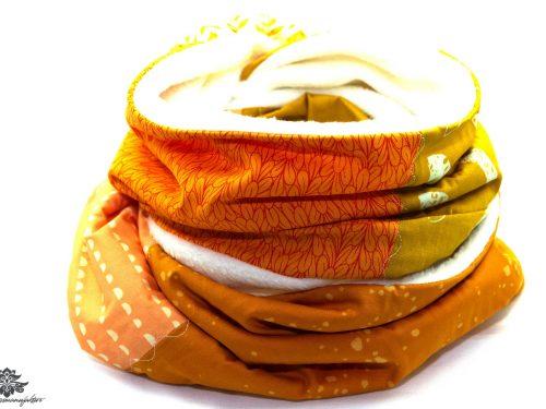 Schal orange gelb