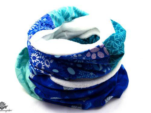 Schal weiss blau