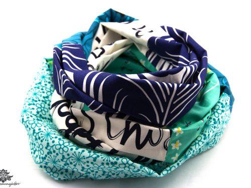 Tuch dunkelblau türkis