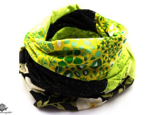 Tuch schwarz grün