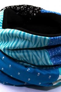 Loop schwarz blau lang Fleece