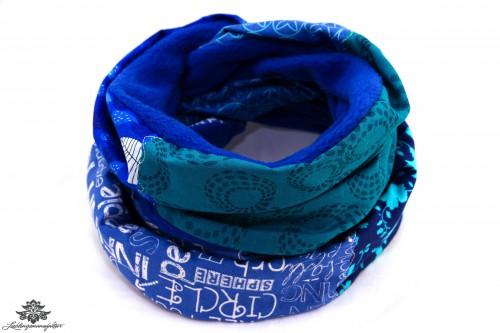 Loopschal Winter blau