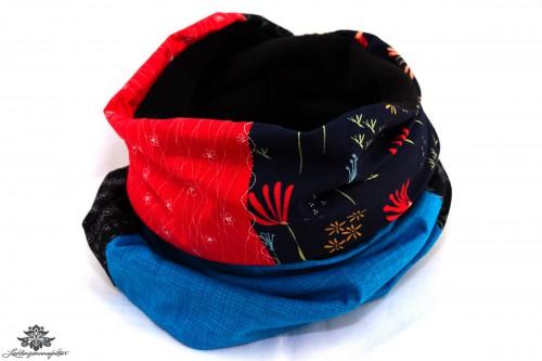 Schal schwarz rot