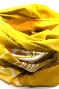 Tücher gelb Patchwork