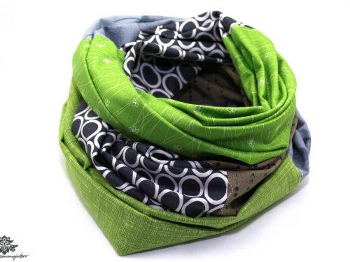 Tuch grün grau