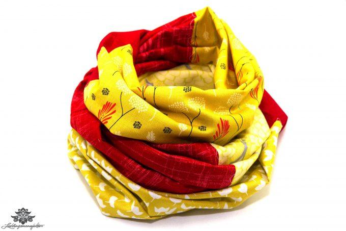 Tuch rot gelb